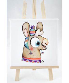 "Tableau ""portrait de lama"""