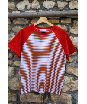 Tee-shirt marinière rouille