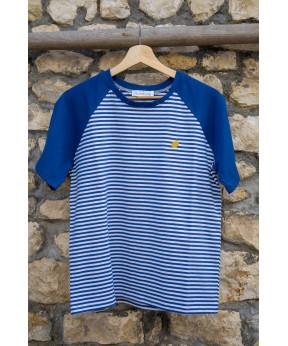 Tee-shirt marinière bleu