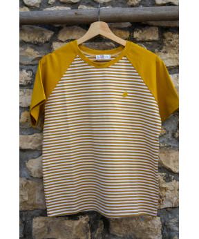 Tee-shirt marinière jaune