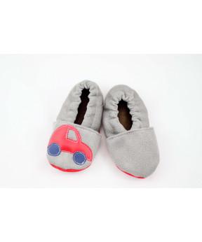 Chaussons souples bébé gris...