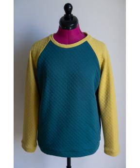 Sweat-shirt vert sapin /...