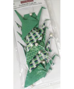 Guirlande origami grue tons...