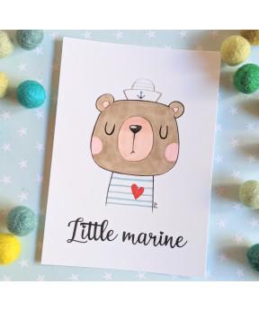 Carte postale «Little marine»