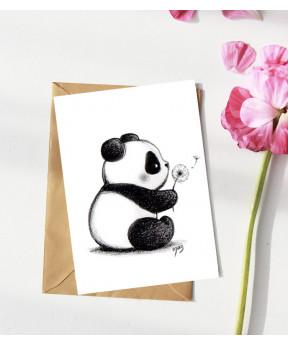 Carte postale «Panda et...