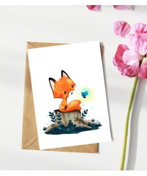 Carte postale «Renard et...