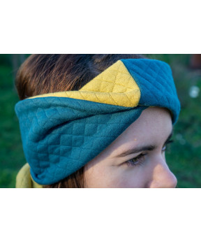 Headband réversible vert...