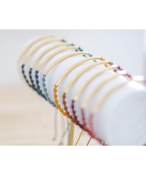 Bracelet tube macramé