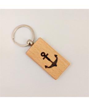Porte clés en bois de hêtre...