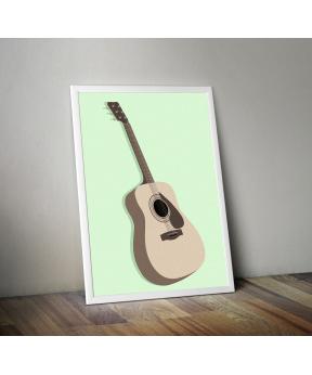 Affiche A4 Guitare