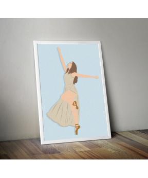 Affiche A4 Danseuse