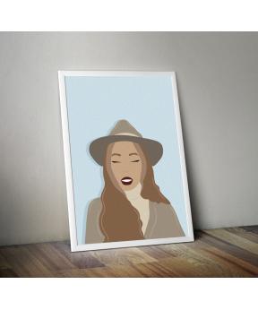 Affiche A4 Femme