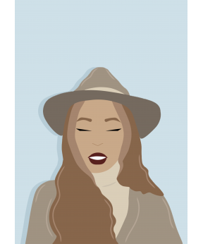 Carte postale Femme