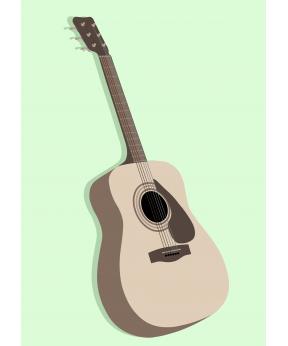 Carte postale Guitare