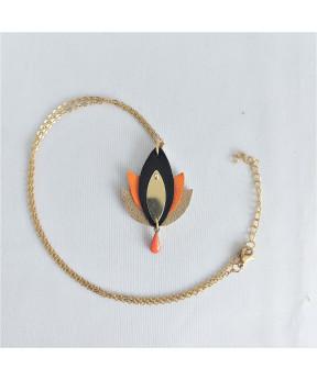 Collier Lotus orange