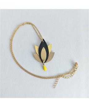 Collier Lotus jaune