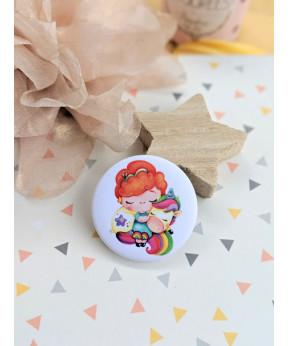 "Badge ""Petite fille et sa..."