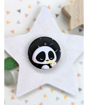 "Badge ""Panda et oiseau"""