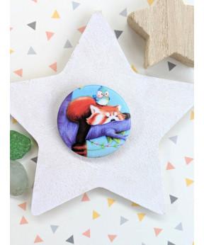 "Badge ""Panda roux"""