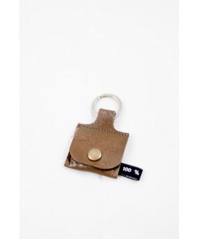 Porte-clés jeton caddie marron